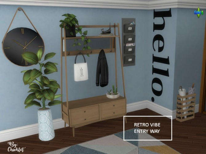 Retro Vibe Entryway by Chicklet at TSR image 516 670x503 Sims 4 Updates
