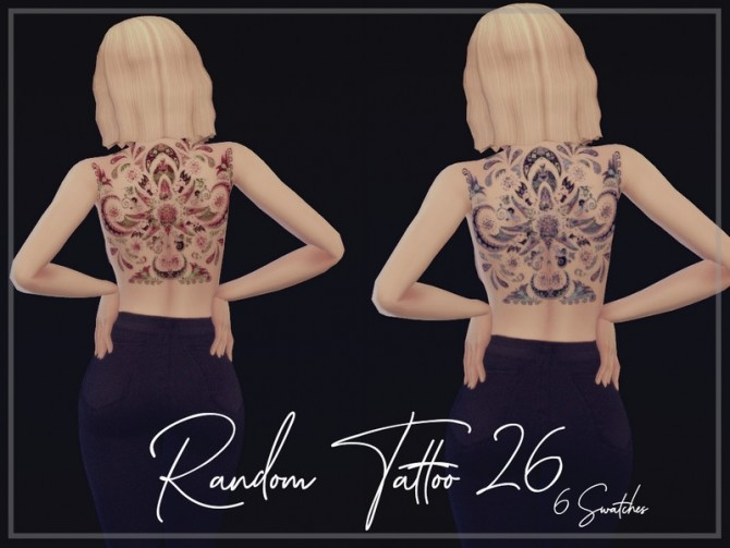 Random Tattoo 26 by Reevaly at TSR image 519 670x503 Sims 4 Updates