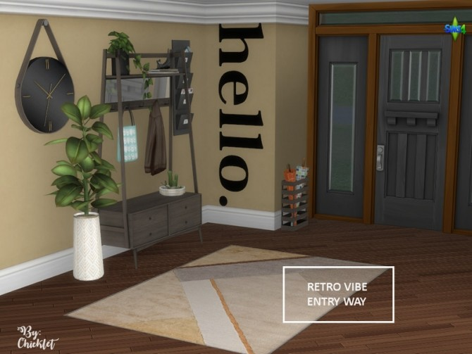 Retro Vibe Entryway by Chicklet at TSR image 523 670x503 Sims 4 Updates