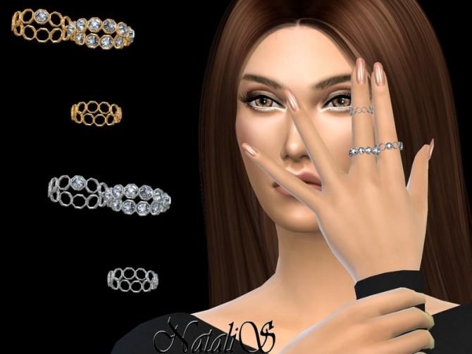 Sims 4 Cell crystal rings by NataliS at TSR