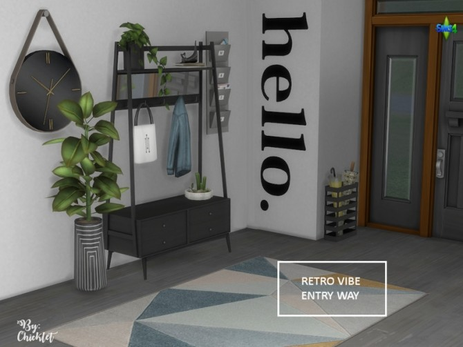 Retro Vibe Entryway by Chicklet at TSR image 534 670x503 Sims 4 Updates