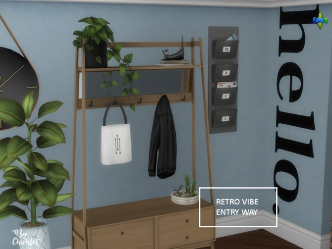 Retro Vibe Entryway by Chicklet at TSR image 544 670x503 Sims 4 Updates