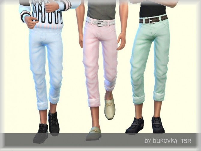 Sims 4 Pants Male by bukovka at TSR