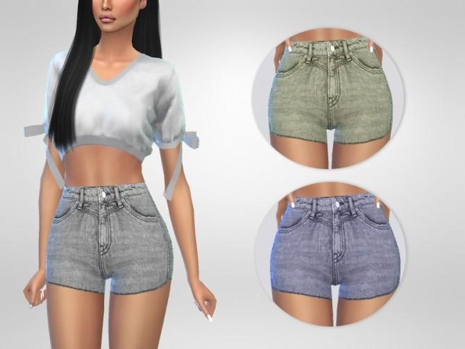 Sims 4 Tina Denim Shorts by Puresim at TSR