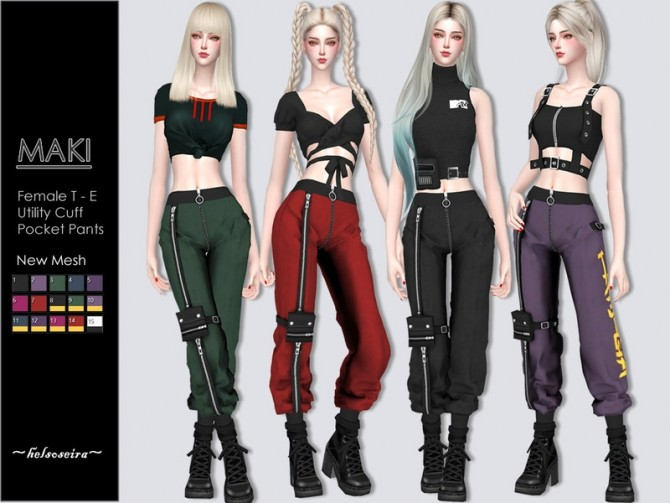 MAKI Utility Pants by Helsoseira at TSR image 5518 670x503 Sims 4 Updates