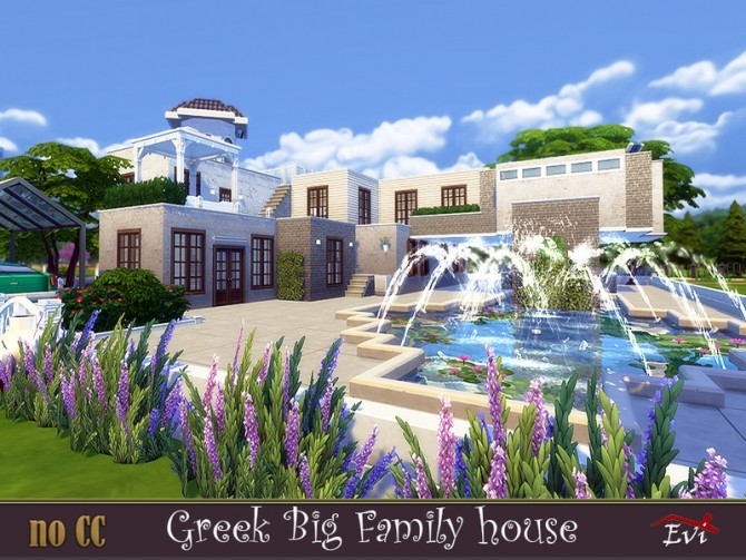 Greek Big Family Home by evi at TSR image 554 670x503 Sims 4 Updates