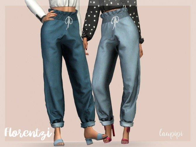 Sims 4 Florentzi modern balloon fit jeans by laupipi at TSR