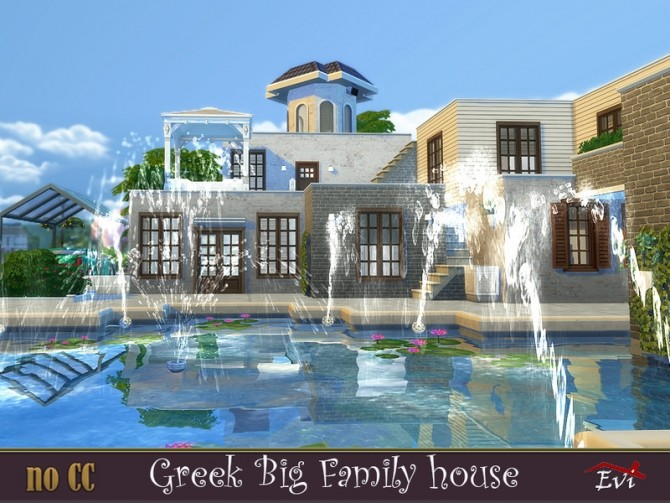Greek Big Family Home by evi at TSR image 564 670x503 Sims 4 Updates