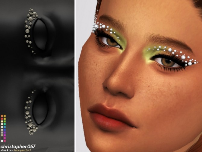 Face Pearls V2 by Christopher067 at TSR image 5721 670x503 Sims 4 Updates