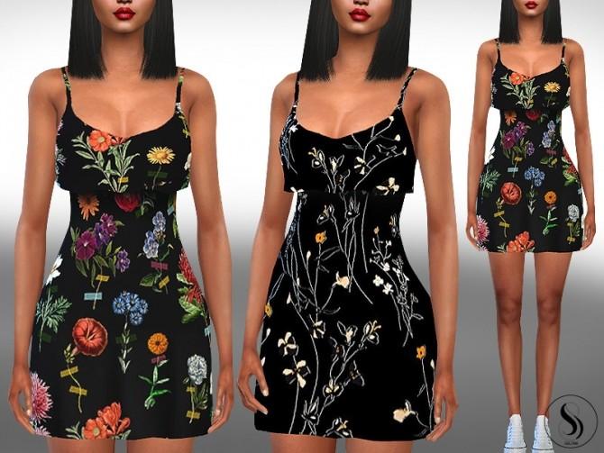 Sims 4 Trendy Mesh Summer Dresses by Saliwa at TSR
