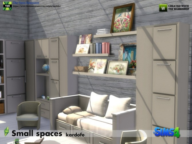 Small spaces set by kardofe at TSR image 573 670x503 Sims 4 Updates