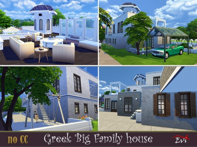 Greek Big Family Home by evi at TSR image 574 670x503 Sims 4 Updates