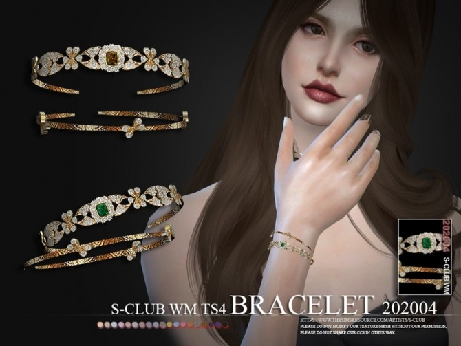 Sims 4 Bracelet 202004 by S Club WM at TSR