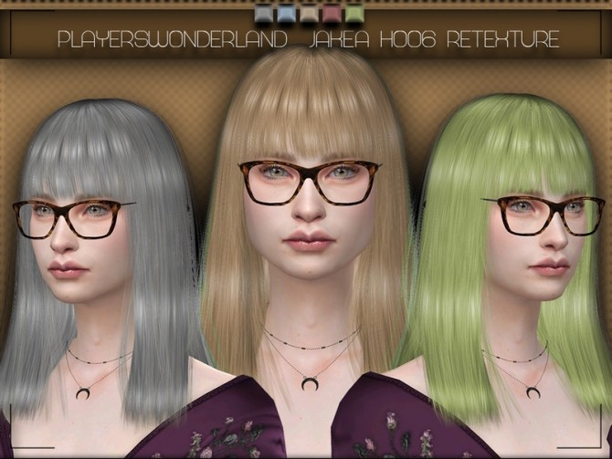JAKEASims H006 Hair Retexture by PlayersWonderland at TSR image 581 670x503 Sims 4 Updates