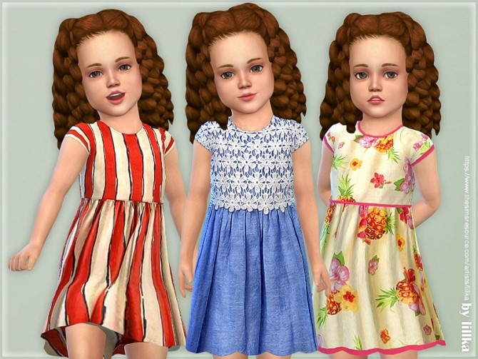 Sims 4 Toddler Dresses Collection P125 by lillka at TSR