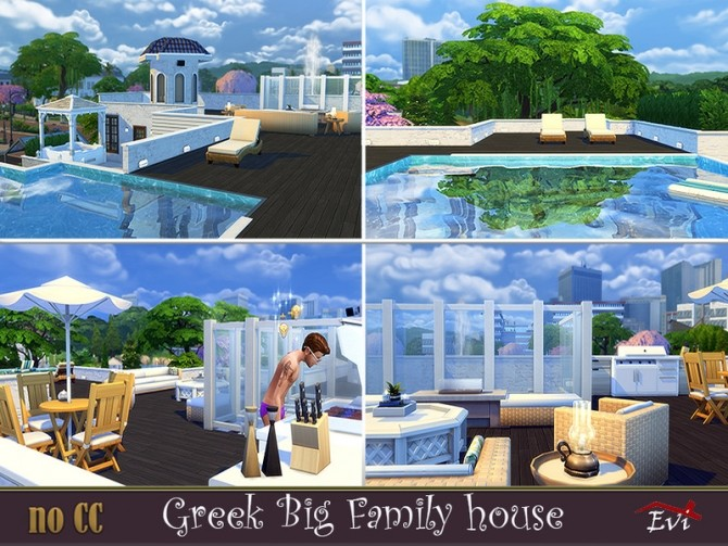 Greek Big Family Home by evi at TSR image 584 670x503 Sims 4 Updates