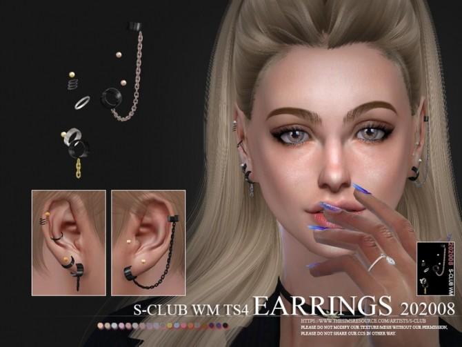 Sims 4 EARRINGS 202008 by S Club WM at TSR