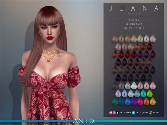 Juana Hairstyle by Anto at TSR image 5917 670x503 Sims 4 Updates