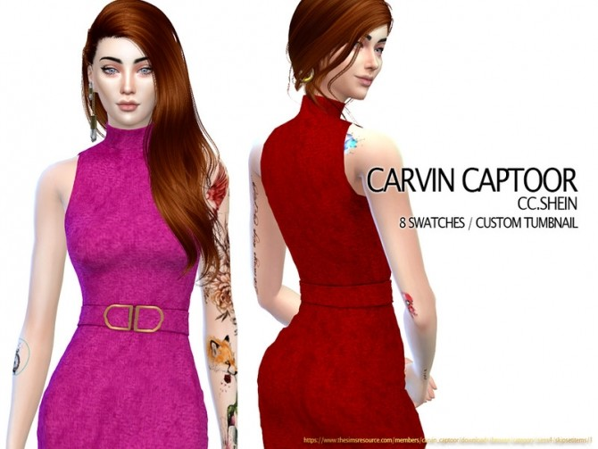 Sims 4 Shein dress by carvin captoor at TSR