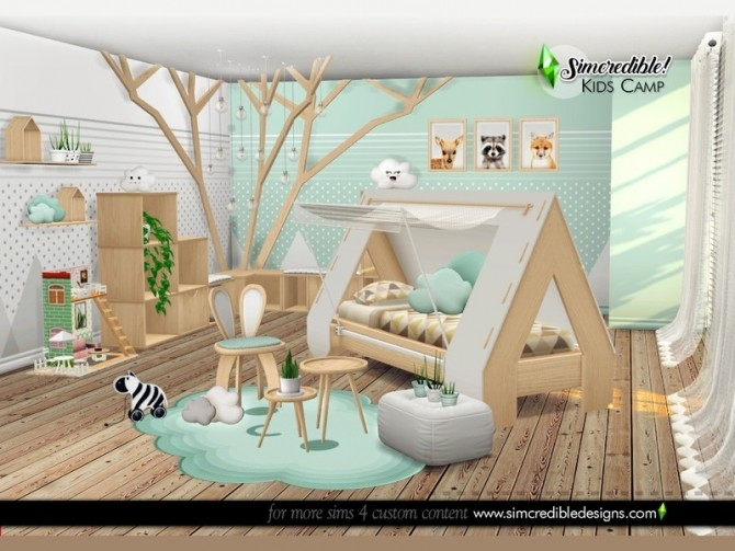 Kids Camping room by SIMcredible at TSR image 6017 670x503 Sims 4 Updates
