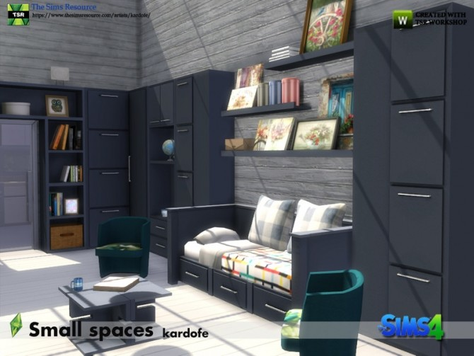 Small spaces set by kardofe at TSR image 615 670x503 Sims 4 Updates