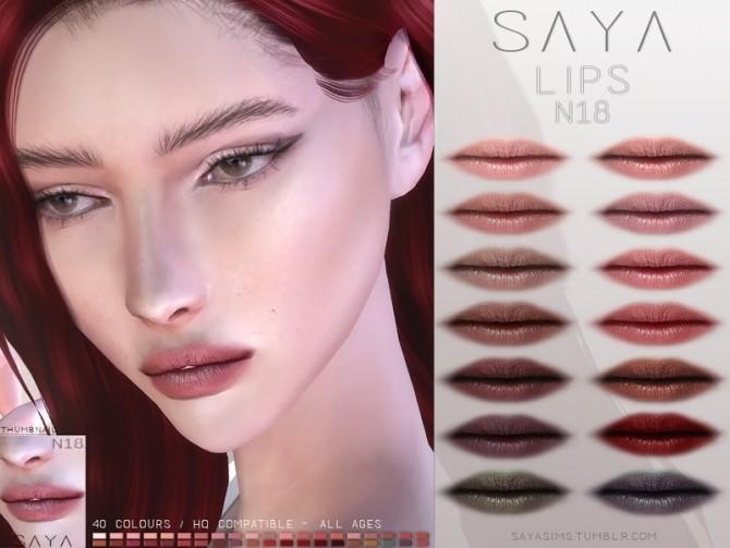 Lips N18 by SayaSims at TSR image 6210 670x503 Sims 4 Updates
