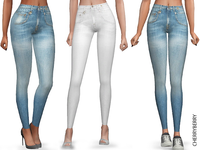 Sims 4 Light Skinny Jeans at Cherryberry
