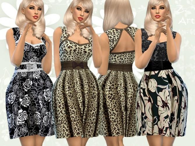 Sims 4 RetroZ 08 dress by Zuckerschnute20 at TSR