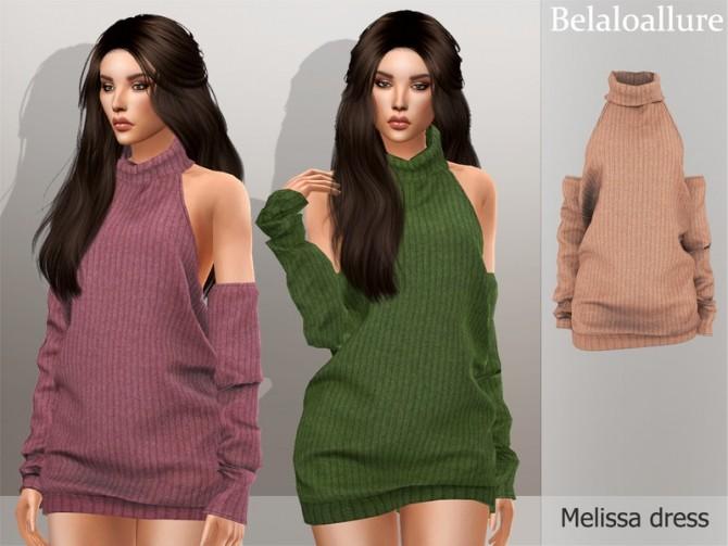 Sims 4 Belaloallure Melissa dress by belal1997 at TSR