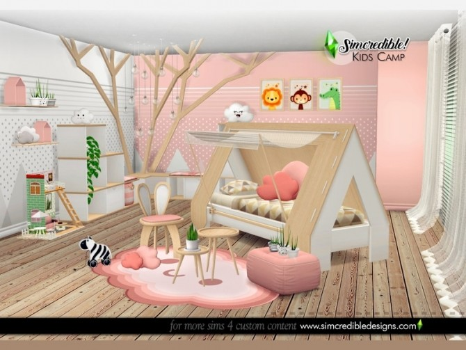 Kids Camping room by SIMcredible at TSR image 6219 670x503 Sims 4 Updates