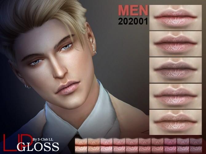Sims 4 Men Lip 202001 by S Club LL at TSR