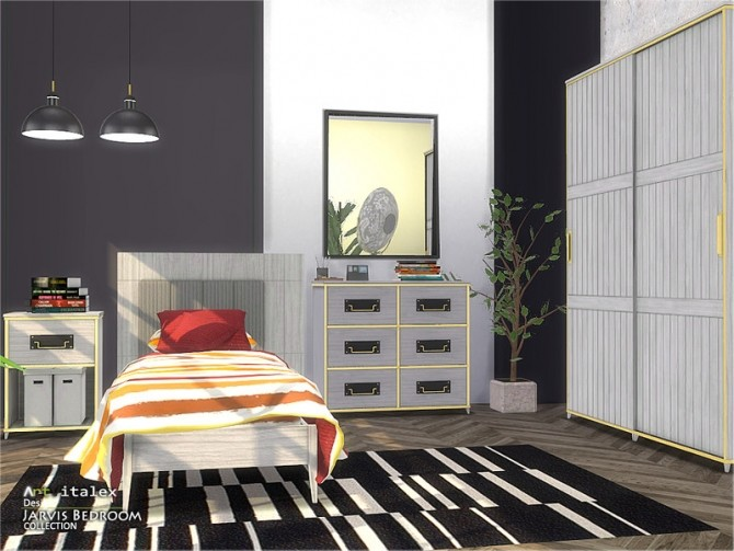 Sims 4 Jarvis Bedroom by ArtVitalex at TSR