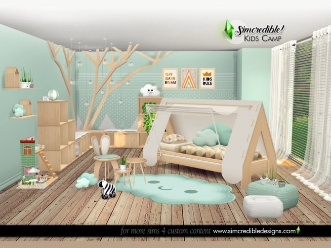 Kids Camping room by SIMcredible at TSR image 6317 670x503 Sims 4 Updates