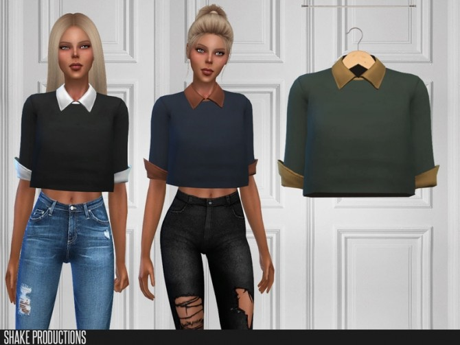 Sims 4 405 Top by ShakeProductions at TSR