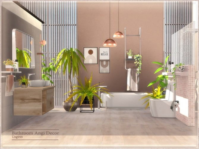 Bathroom Angi Decor by ung999 at TSR image 6323 670x503 Sims 4 Updates