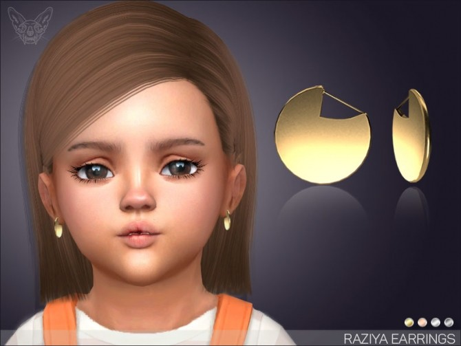 Sims 4 Raziya Earrings For Toddlers at Giulietta