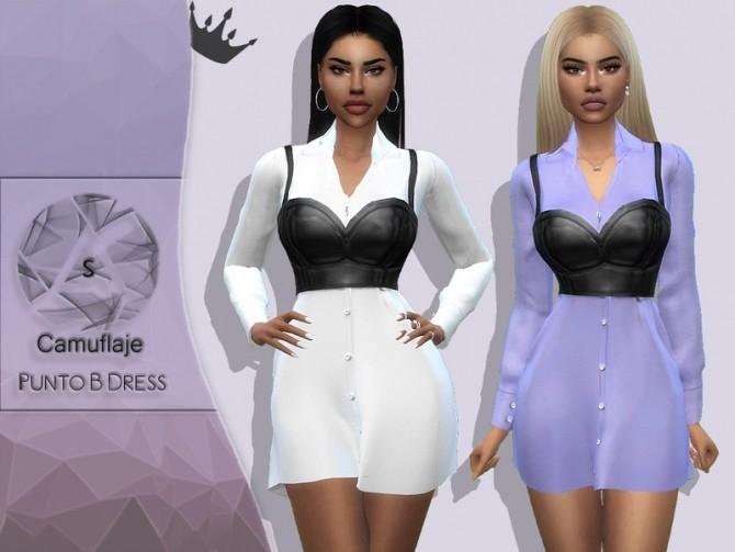 Punto B Dress by Camuflaje at TSR image 641 670x503 Sims 4 Updates