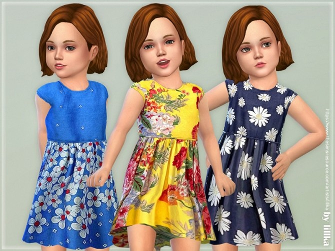 Sims 4 Toddler Dresses Collection P124 by lillka at TSR