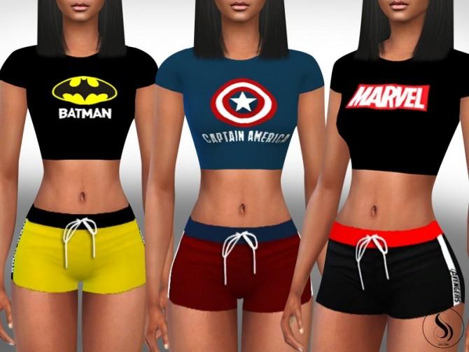 Sims 4 Sport And Sleeping Outfits by Saliwa at TSR