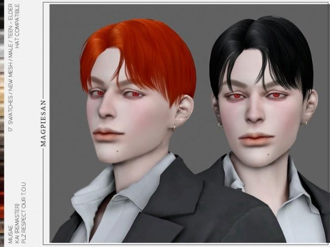 Sims 4 Kai Hair by magpiesan at TSR