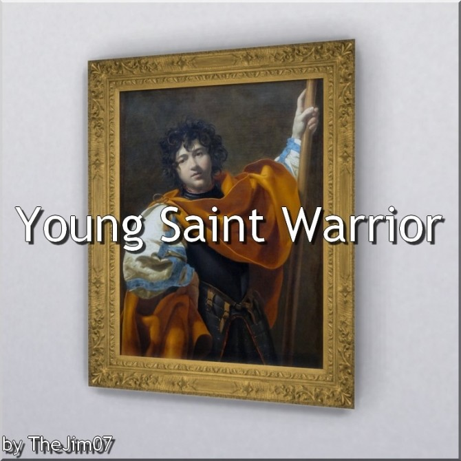 Sims 4 Young Saint Warrior painting by TheJim07 at Mod The Sims
