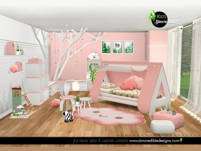 Kids Camping room by SIMcredible at TSR image 6517 670x503 Sims 4 Updates