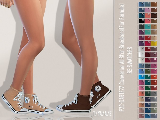 PZC Darte77 Converse All Stars Recolour by Pinkzombiecupcakes at TSR image 652 670x503 Sims 4 Updates