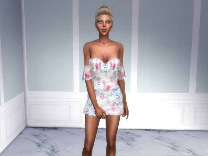 Sims 4 404 Dress by ShakeProductions at TSR