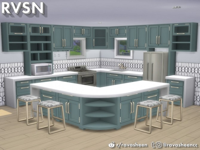 Simmer Down Kitchen Counter Set by RAVASHEEN at TSR image 66 670x503 Sims 4 Updates