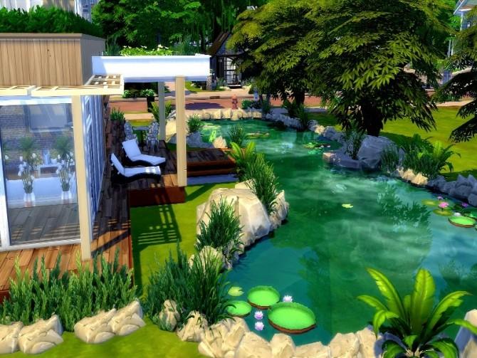 Sims 4 Modern ecology house by GenkaiHaretsu at TSR