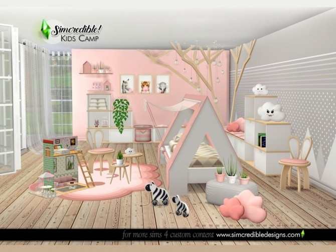 Kids Camping room by SIMcredible at TSR image 6617 670x503 Sims 4 Updates