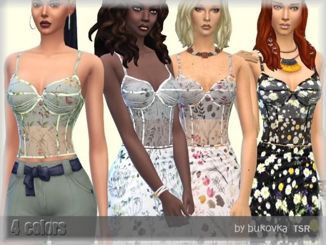 Sims 4 Top Corset by bukovka at TSR