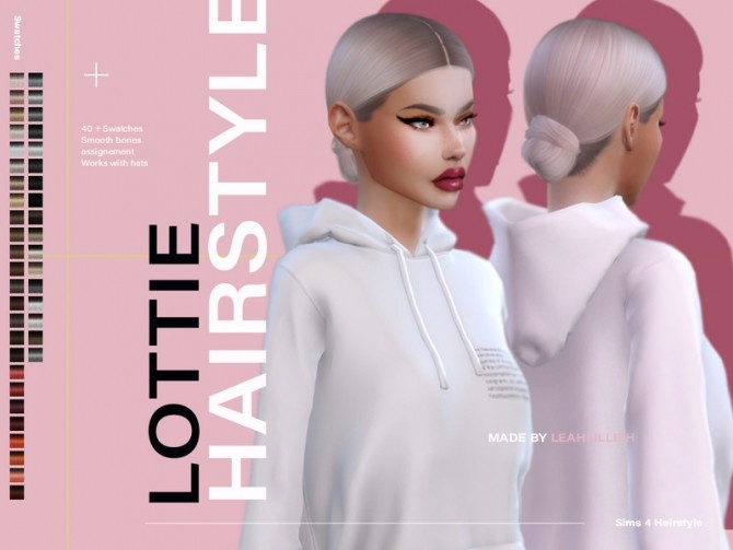 Sims 4 Lottie Hairstyle by Leah Lillith at TSR
