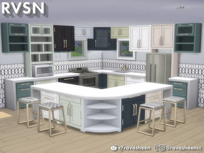 Simmer Down Kitchen Counter Set by RAVASHEEN at TSR image 67 670x503 Sims 4 Updates